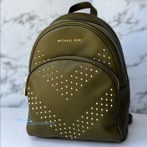 🍀NWT Michael Kors Abbey Duffle Leather Backpack